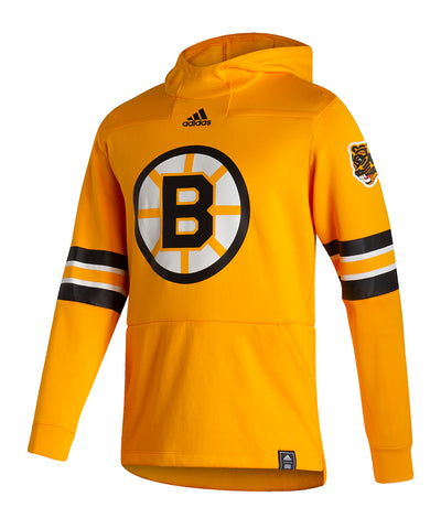 BOSTON BRUINS ADIDAS MEN'S REVERSE RETRO UNDER THE LIGHTS PULLOVER HOODIE
