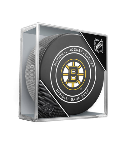 BOSTON BRUINS OFFICIAL GAME PUCK