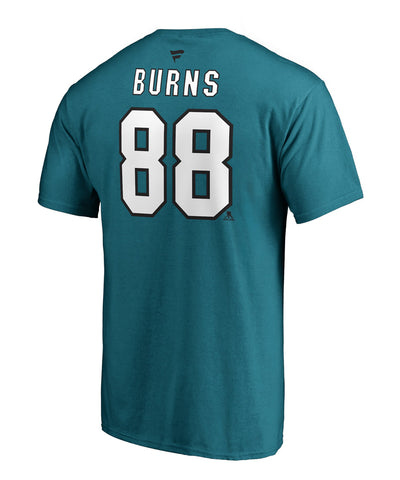 BRENT BURNS SAN JOSE SHARKS FANATICS MEN'S NAME AND NUMBER T SHIRT