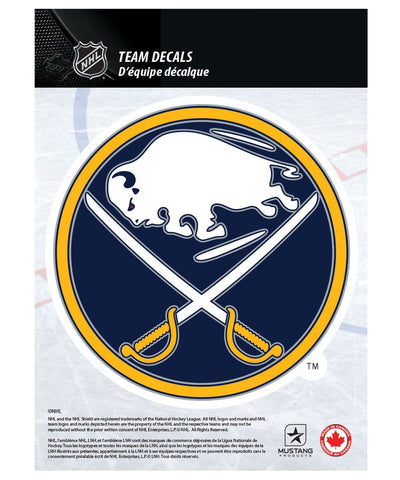 "BUFFALO SABRES 5"" X 7"" NHL TEAM DECAL"