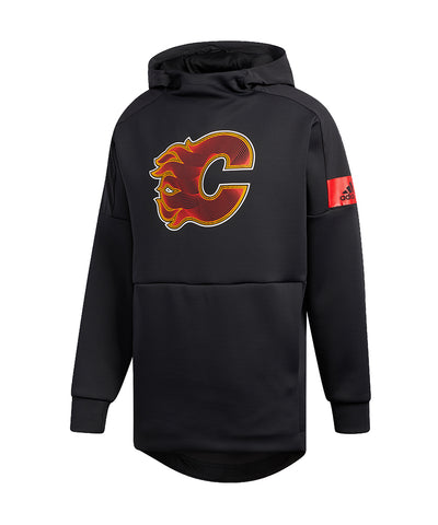 CALGARY FLAMES ADIDAS MEN'S GAME MODE PO HOODIE - BLACK