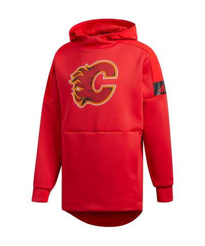 CALGARY FLAMES ADIDAS MEN'S GAME MODE PO HOODIE - RED