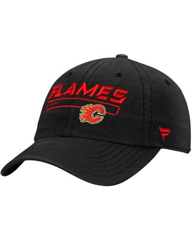 CALGARY FLAMES FANATICS MEN'S RINKSIDE FUNDAMENTAL ADJUSTABLE HAT - BLACK