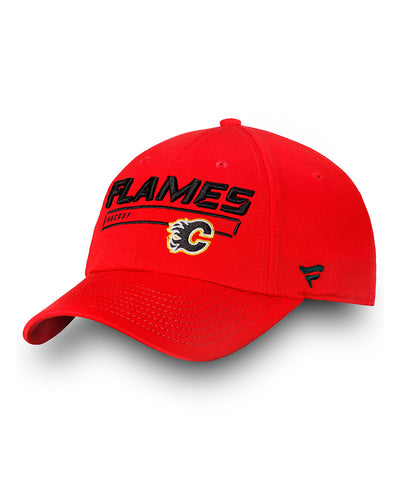 CALGARY FLAMES FANATICS MEN'S RINKSIDE FUNDAMENTAL ADJUSTABLE HAT