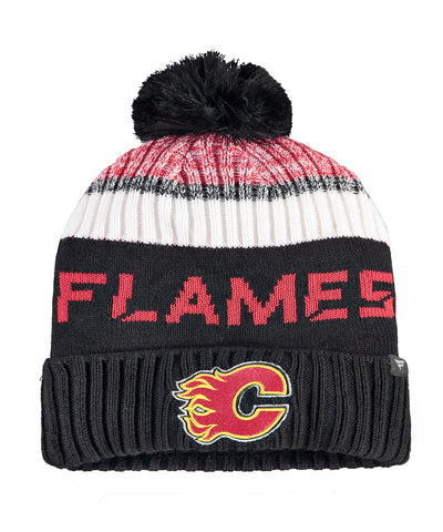 CALGARY FLAMES FANATICS MEN'S RINKSIDE GOALIE POM BEANIE TOQUE