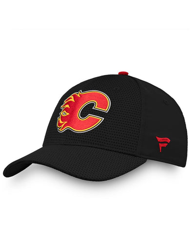 CALGARY FLAMES FANATICS MEN'S RINKSIDE STRUCTURED STRETCH HAT