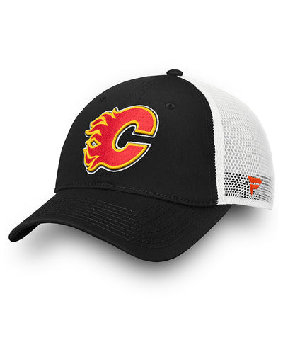 CALGARY FLAMES FANATICS MEN'S UNSTRUCTURED ADJUSTABLE MESH HAT