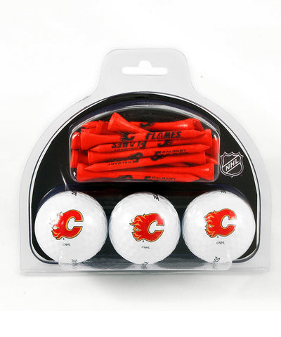 CALGARY FLAMES GOLF BALL AND TEE PACK