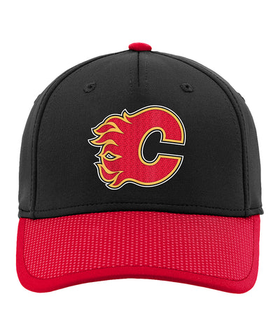 CALGARY FLAMES KIDS AUTHENTIC PRO STRUCTURED NHL DRAFT HAT