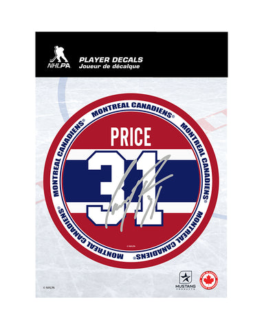 "CAREY PRICE MONTREAL CANADIENS 5""X7"" PLAYER DECAL"