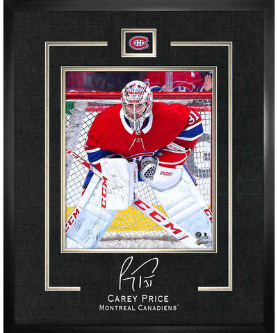 CAREY PRICE MONTREAL CANADIENS AUTHENTIC FRAMED REPLICA SIGNATURE PRINT - 16X20