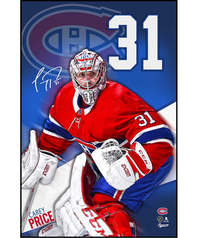 CAREY PRICE MONTREAL CANADIENS AUTHENTIC POSTER PLAQUE - 22X34