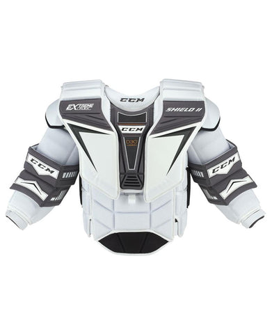 CCM EXTREME FLEX SHIELD 2 PRO SR GOALIE CHEST PROTECTOR - WHITE