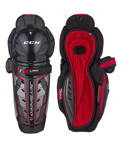 CCM JETSPEED FT1 JR SHIN GUARDS
