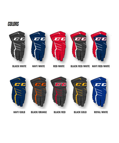 CCM JETSPEED FT370 JR HOCKEY GLOVES