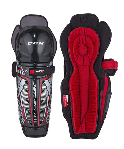 CCM JETSPEED FT370 JR SHIN GUARDS