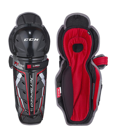 CCM JETSPEED FT390 JR SHIN GUARDS