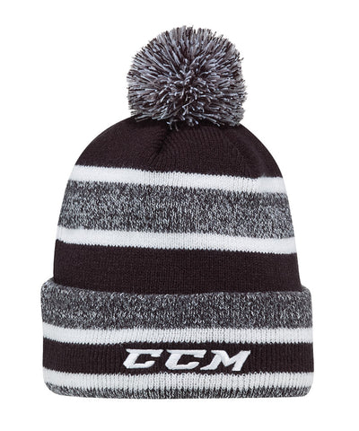 CCM KIDS CORE POM KNIT TOQUE - BLACK