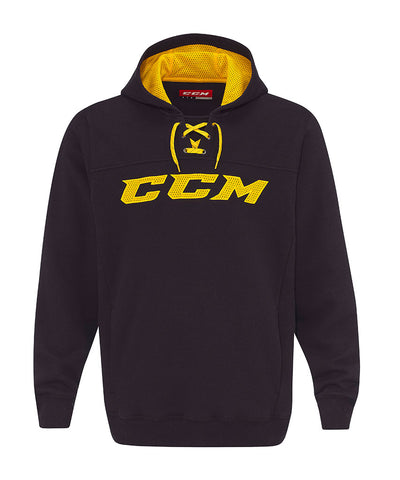 CCM MEN'S TRUE TO HOCKEY FLEECE HOODIE - BLACK/YELLOW