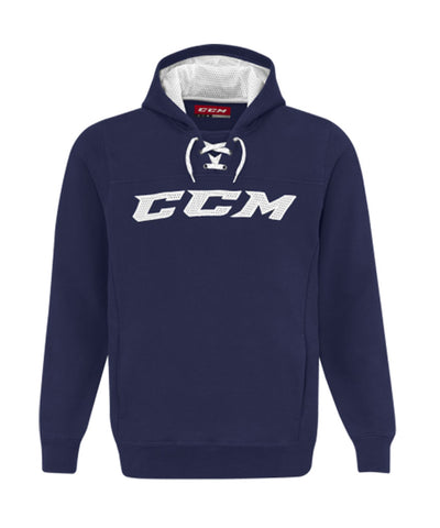 CCM MEN'S TRUE TO HOCKEY FLEECE HOODIE - NAVY