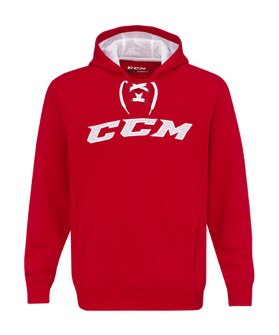 CCM MEN'S TRUE TO HOCKEY FLEECE HOODIE - RED