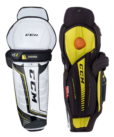 CCM SUPER TACKS AS1 SR SHIN GUARDS