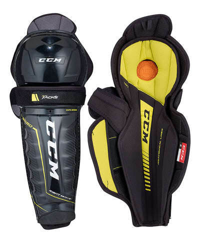 CCM TACKS 9080 SR SHIN GUARDS
