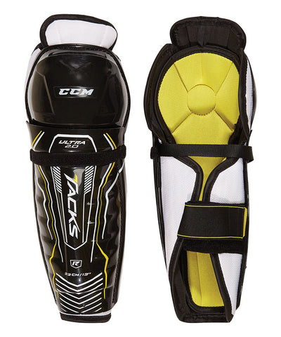 CCM ULTRA TACKS 2.0 JR SHIN GUARDS