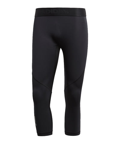 ADIDAS MEN'S ALPHASKIN SPORT 3/4 TIGHTS - BLACK
