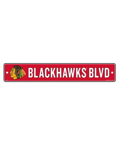 "CHICAGO BLACKHAWKS 4""X23"" STANDARD STREET SIGN"