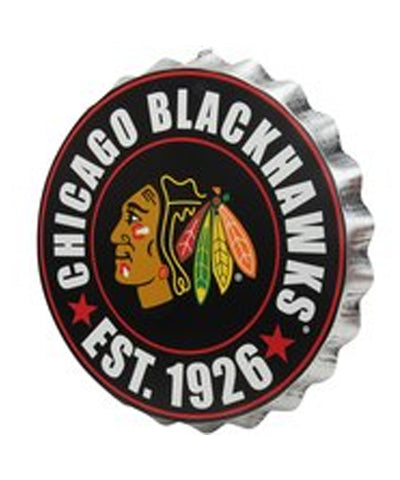 CHICAGO BLACKHAWKS BOTTLE CAP WALL LOGO