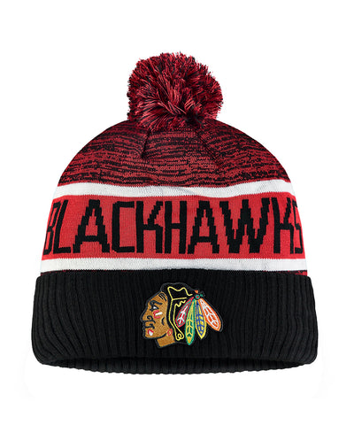 3239b90b5a9a3 CHICAGO BLACKHAWKS FANATICS MEN S RINKSIDE GOALIE CUFFED KNIT TOQUE ...