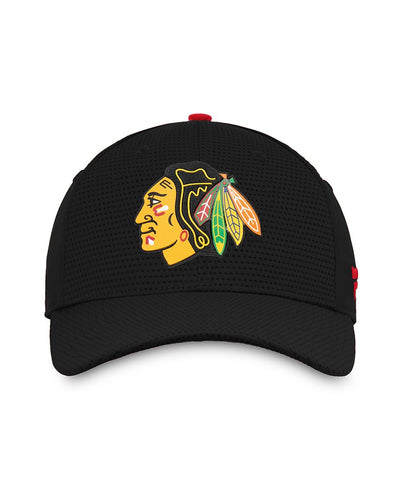 CHICAGO BLACKHAWKS FANATICS MEN'S RINKSIDE STRUCTURED STRETCH HAT