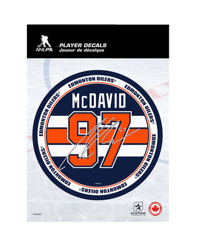 "CONNOR MCDAVID EDMONTON OILERS 5""X7"" PLAYER DECAL"