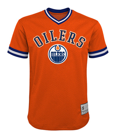 CONNOR MCDAVID EDMONTON OILERS KID'S V-NECK MESH SHIRT