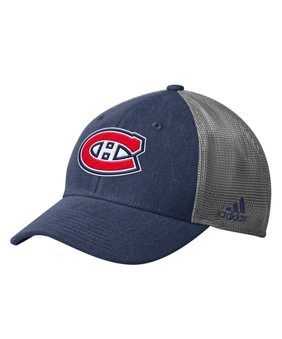 MONTREAL CANADIENS ADIDAS MEN'S MESH BACK STRUCTURED HAT