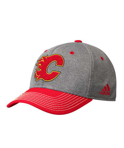 CALGARY FLAMES ADIDAS MEN'S STRUCTURED ADJUSTABLE HAT