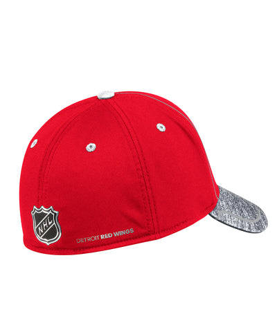 DETROIT RED WINGS ADIDAS MEN'S 2018 NHL STRUCTURED DRAFT HAT