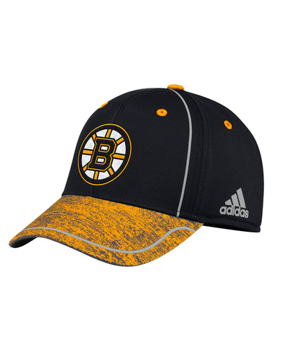 BOSTON BRUINS ADIDAS MEN'S 2018 NHL STRUCTURED DRAFT HAT