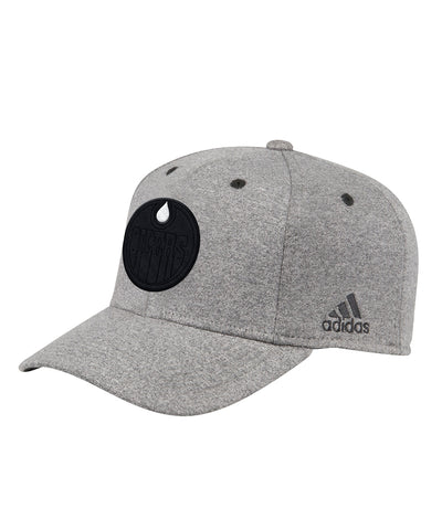 EDMONTON OILERS ADIDAS MEN'S PRESS CONFERENCE STRUCTURED FLEX HAT