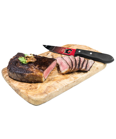 CALGARY FLAMES 4 PIECE STEAK KNIFE SET
