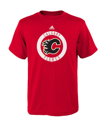 CALGARY FLAMES ADIDAS KID'S PRACTICE GRAPHIC BASIC T SHIRT