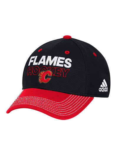 CALGARY FLAMES ADIDAS SR LOCKER ROOM STRUCTURED FLEX HAT