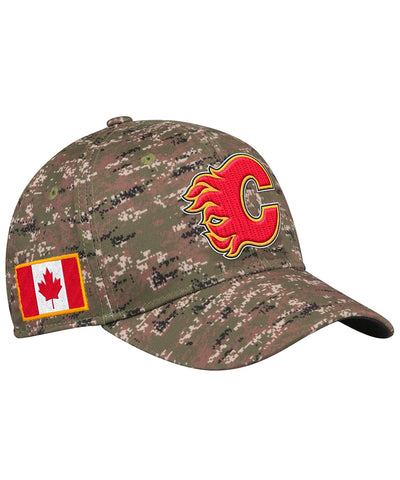 CALGARY FLAMES ADIDAS MEN'S STRUCTURED FLEX CAMO HAT