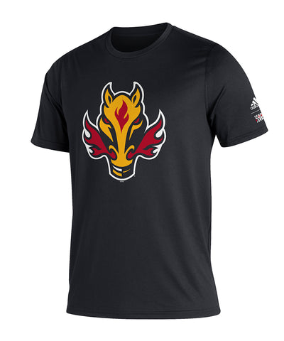 CALGARY FLAMES ADIDAS MEN'S REVERSE RETRO AMPLIFIER T SHIRT