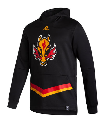 CALGARY FLAMES ADIDAS MEN'S REVERSE RETRO UNDER THE LIGHTS PULLOVER HOODIE