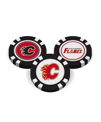 CALGARY FLAMES GOLF POKER CHIPS