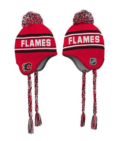 CALGARY FLAMES KID'S WORDMARK TASSEL KNIT TOQUE