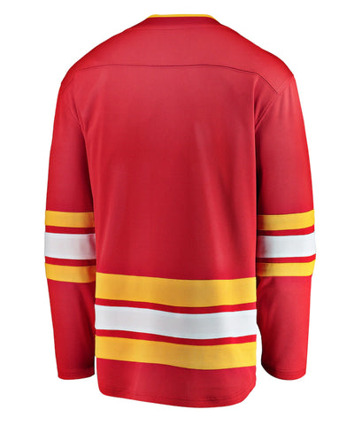 CALGARY FLAMES FANATICS MEN'S BREAKAWAY THIRD JERSEY