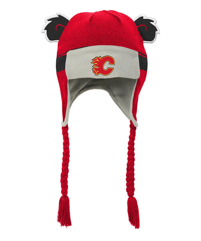 CALGARY FLAMES TODDLER STRIPE EARS TROOPER HAT